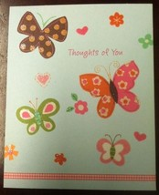 NEW Hallmark Happy Birthday Card With Butterflies Yellow Envelope Included - $4.96