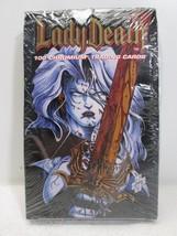 Lady Death 100 Chromium Trading Card Packs Series 1 Box - Chaos Comics 1... - $77.40