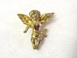 Vintage sterling silver Goldtone Angel pendant - $5.00