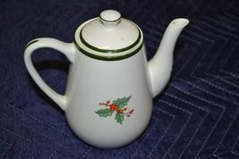 Vintage Cuthbertson Original Christmas Tree Coffee Teapot Made England 7... - $18.49