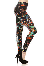 Lady's The Expolsive Fireworks in Orange Fashion Legging - $15.99