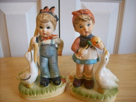 1960's Arnart 5th Avenue Ceramic Girl and Boy Japan Figurines  - $50.00