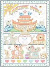 Noah's Ark baby birth record cross stitch chart Kooler Design Studio - $12.60