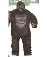 GORILLA WITH HANDS, FEET AND MASK PLUS SIZE  - $120.00