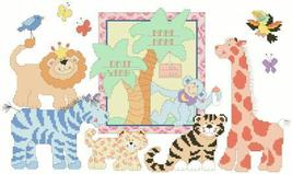Zoo Babies baby birth record cross stitch chart Kooler Design Studio - $12.60