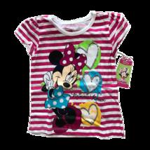 Disney Minnie And Mickey Kids Tshirts (4T, Pink Stripe) - $5.87