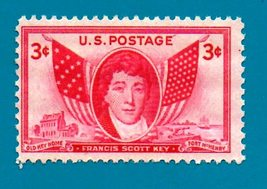 Scott   #962 United States 3 cent Francis Scott Key (1948)   - $2.99