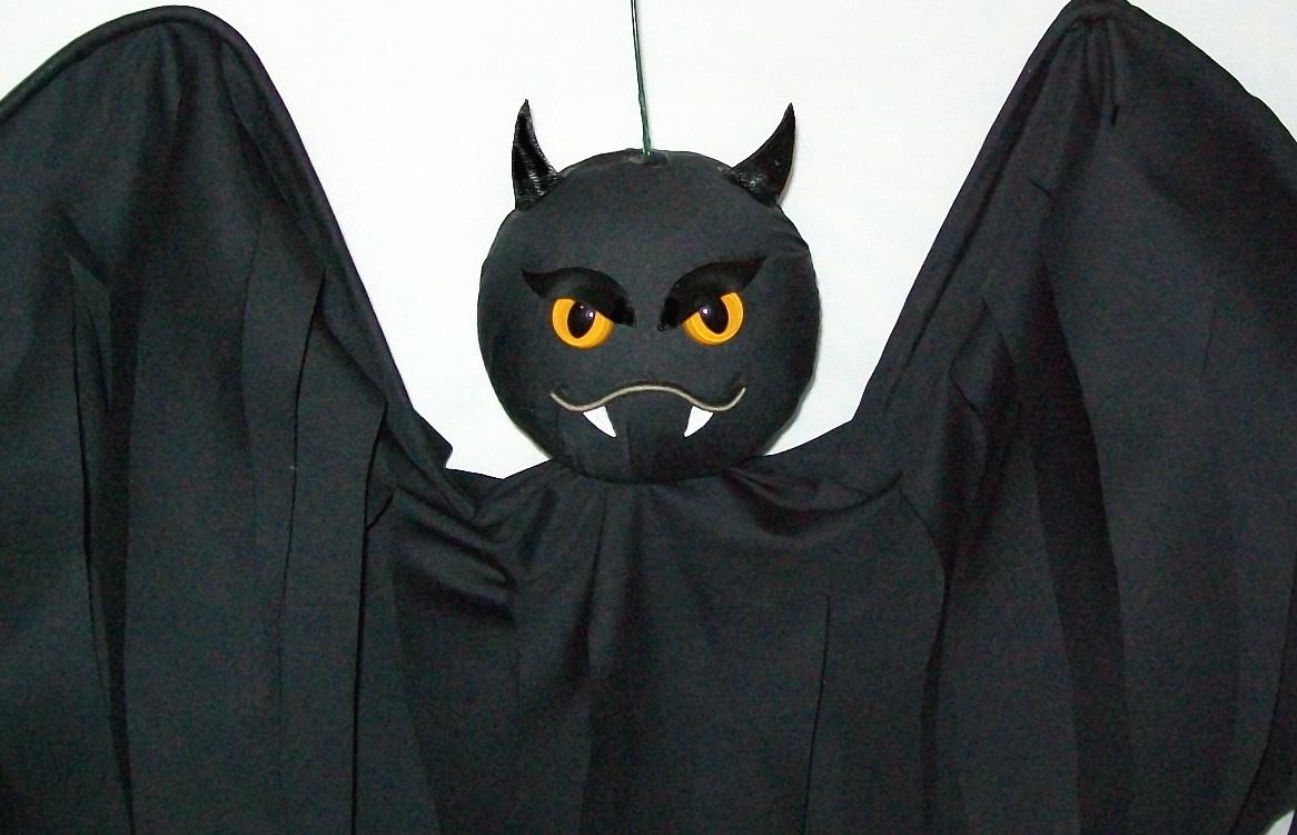 Halloween Hanging Bat Flyer BATTITUDE, Hand-Crafted