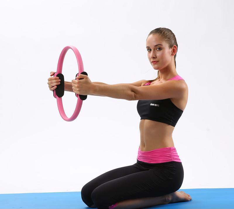 Pilates Rings Stretch Equipment Fitness Strap  Magic Circle Yoga Ring Wrap Belt