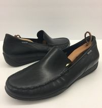 Loafers Leather Black us MEPHISTO Mens France Dress Slip Size 11 On Drivers 5x0wAdqPwr