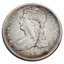 1837 50C Bust Half Dollar in VF Condition, Light Gray Color, Some Rim To... - $123.74