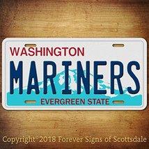 Seattle Mariners MLB Baseball Team Aluminum Vanity License Plate Tag - $12.69
