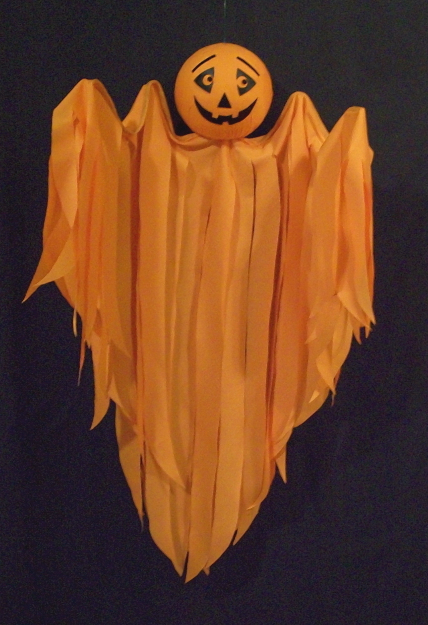 Halloween Hanging Pumpkin Flyer, Hand-Crafted
