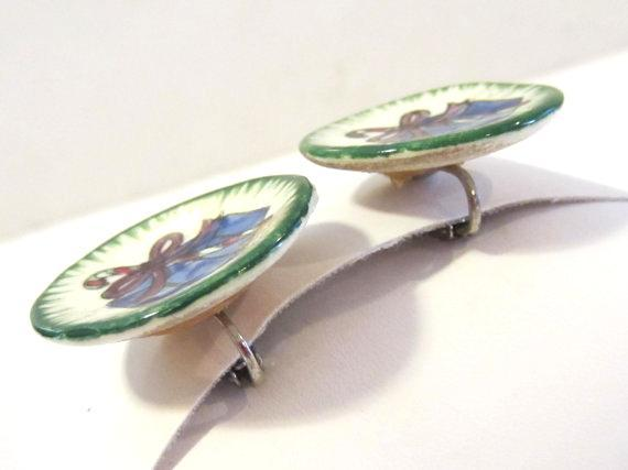 Vintage jewelry clip earrings
