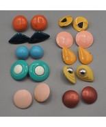 Vintage Lot of 10 Chunky Colorful 1980's Earrings Clip On & Post - $58.40
