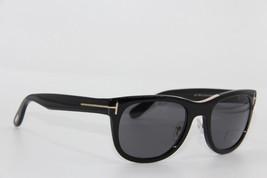 NEW TOM FORD TF 45 01D JACK BLACK POLARIZED SUNGLASSES AUTHENTIC 51-20 W... - $215.05