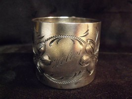 ANTIQUE HOMAN ART NOUVEAU FLORAL DESIGN  'HELEN' INSCRIBED BABY CUP - $49.50