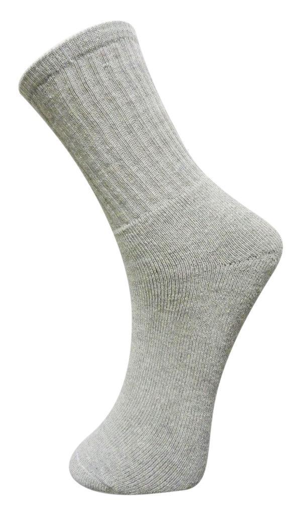 NEW MEN'S MASTER 4 PACK CLASSIC ATHLETIC RIBBED ANKLE CREW SOCKS GREY 86940