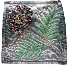Satin Flower: Quilted Art Wall Hanging - $355.00