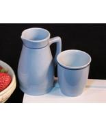 Lilien Porzellan Austria Blue Cream and Sugar Set, Porcelain China, Mid ... - $18.99