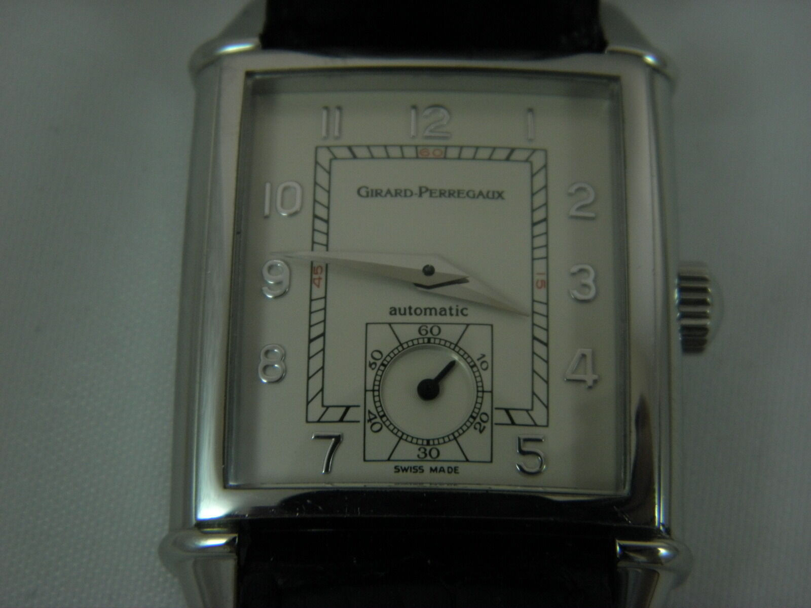 """Girard Perregaux vintage swiss  watch for men ,automatic ,ref"""" 2593 Small sec"""