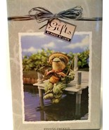 FISHING FROGGY - Gifts by House of Lloyd - Shelf Sitter - Soft Fabric - ... - $5.45