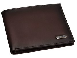 Nautica Men's Premium Leather Credit Card Id Wallet Billfold Brown 31NU22X023