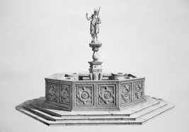 ITALY Architecture Baptistery at Pisa Baptismal Font - SUPERB 1843 Antiq... - $22.46