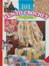 "Hard Covered Bk ""101 Fun-To-Crochet Projects"" -House of White Birches-Ge... - $18.00"