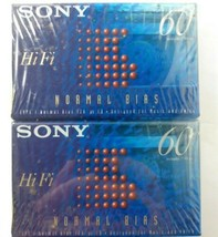 Sony HiFi 60 Min Type 1 Normal Bias For Music & Voice Cassette. 2 pack - $9.86