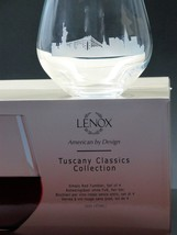 NY Skyline Lenox Simply red Tumiler glass 4 pieces - $54.82