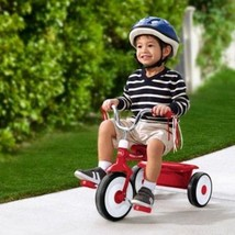Boys Folding Tricycle Kids Toddler Red Trike Outdoor Ride On Stroll Bicy... - $57.45