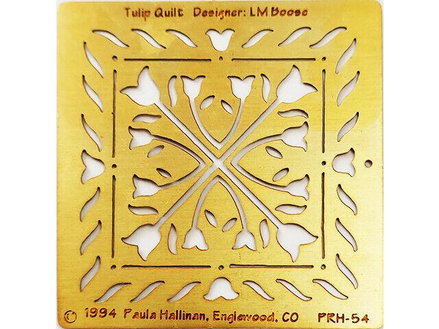 Paula Hallinan Metal Embossing Plate, Tulip Quilt #PRH-54