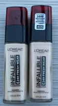 L'Oreal Infallible up to 24Hr Fresh Wear Foundation 405 Porcelain Exp 02... - $17.10
