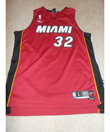 VTG-2000s Heat de Miami Shaquille O'Neal Reebok Authentique Cousu Jersey Grand - $74.61