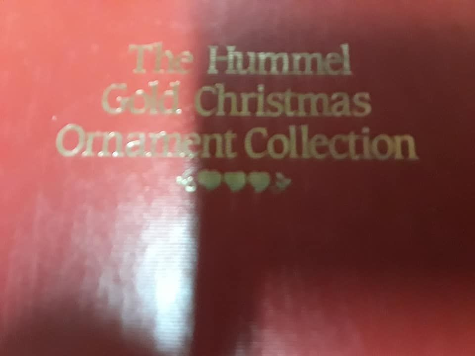 The Hummel Gold Christmas Ornament Collection Christmas Tree Ornament Decor