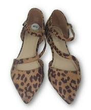 Madden Girl Emeline Cross & Ankle Strap Leopard Print Pointed Toe Flats ... - $29.70