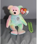 "TY Retired Beanie Baby B.B. Birthday Bear 1999 8"" With Tags - $19.79"