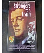"Vintage VHS Video Tape ""Strangers On A Train"" Warner Bros. Movie 1951 - $9.50"