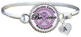 Custom Testicular Cancer Awareness Believe Silver Bracelet Jewelry Pick ... - $14.87