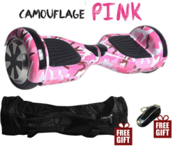 Camouflage Pink LED Bluetooth Hoverboard Two Wheel Balance Scooter UL2272 - $249.00