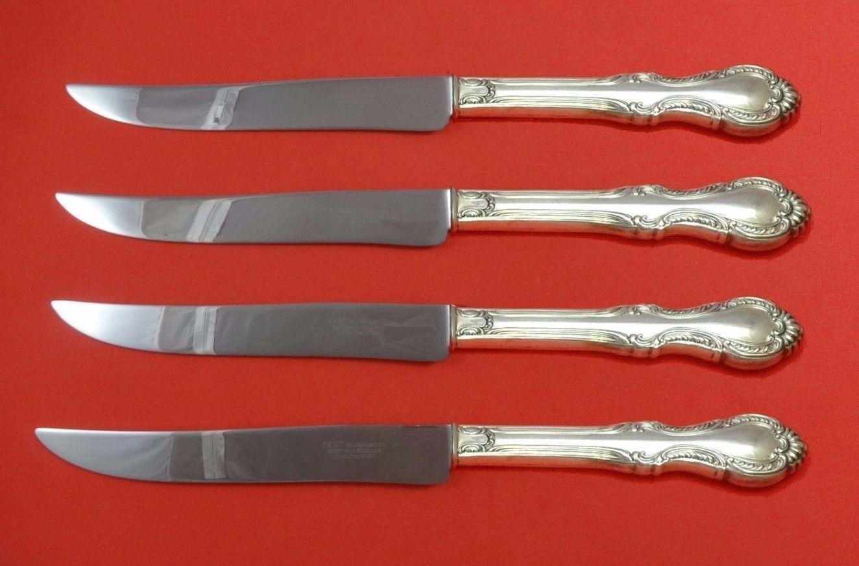 Southern Colonial by International Sterling Steak Knife Set Texas Sized Custom - $247.10
