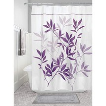InterDesign Leaves Fabric Long Shower Curtain for Master, Guest, Kids', ... - $21.57
