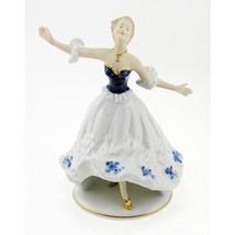 Vintage Wallendorf Porcelain Cobalt Girl Figurine - $138.82