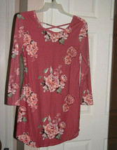 No Boundaries Long Sleeve Pink Floral Dress Size XL (15/17) - $10.00