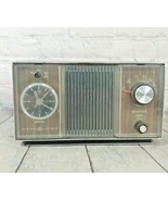 General Electric Vintage Solid State AM Radio And Clock Combo Model C1405A  - $24.74