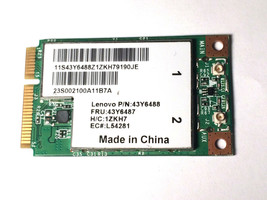 Lenovo IBM BCM94312MCGSG BCM94312 60Y322043 43Y6488 802.11bg Mini WiFi P... - $7.90