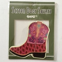 Ganz Screen Door Saver Western Boots Cowgirl Pink Purple 2pc Magnet Set New - $9.89