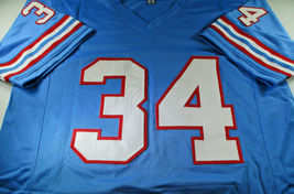 EARL CAMPBELL / NFL HALL OF FAME / AUTOGRAPHED HOUSTON OILERS CUSTOM JERSEY COA image 2
