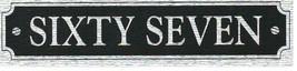 door number sign decal screenprinted on mettalic vinyl caravan, home, garage etc